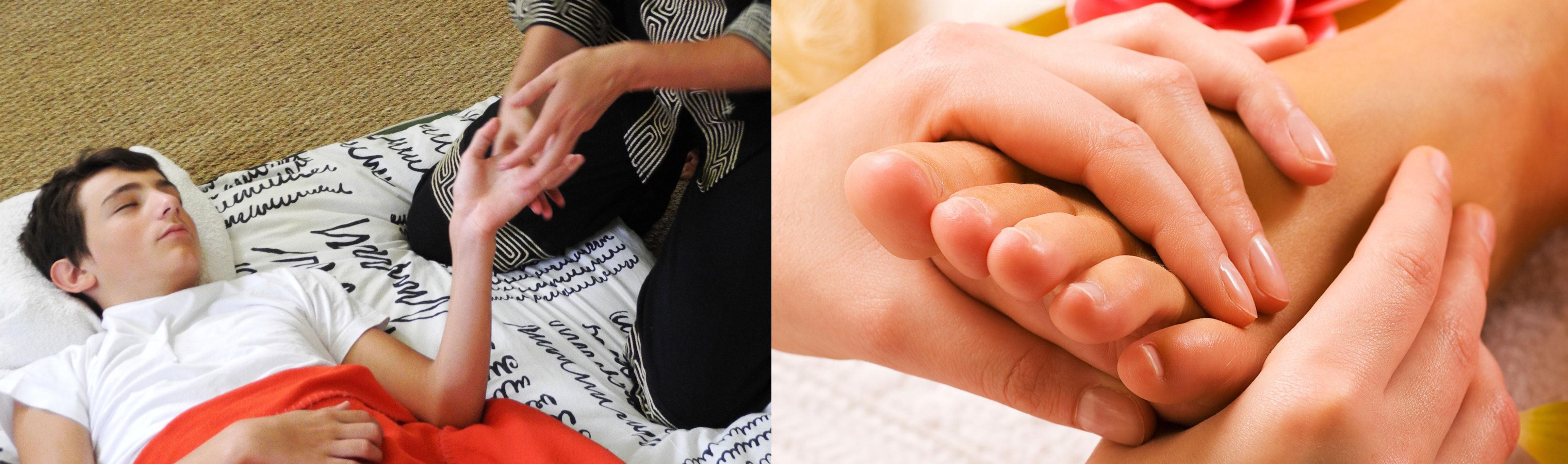 Relaxation coréenne chez les adolescents et réflexologie plantaire